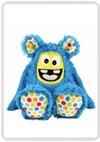 Kullaloo Set Cuddly monster 'MemoMonsti' turquoise