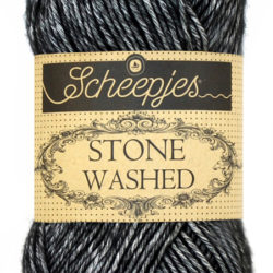 Scheepjeswol Stone Washed Black Onvx 803