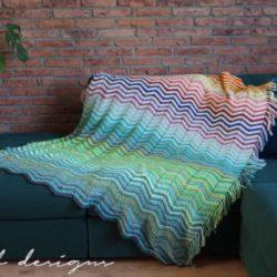 Chevrainbow blanket CAL 2018