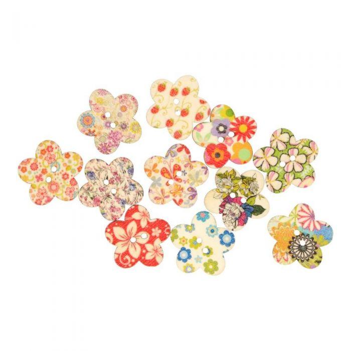 Knoop bloem verschillende kleuren