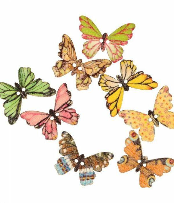 Knoop vlinder gekartelde vleugel