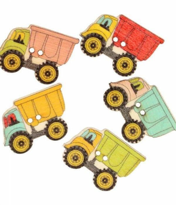 Knoop vrachtauto verschillende kleuren