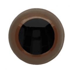 Dierenogen - veiligheidsogen bruin/zwart 14 mm