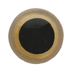 Dierenogen - veiligheidsogen goud/zwart 15 mm