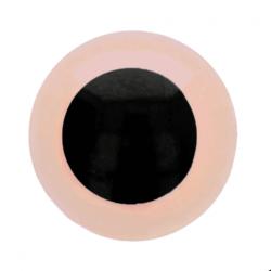 Dierenogen - veiligheidsogen roze/zwart 6 mm