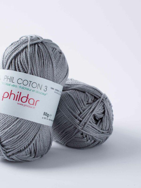 Phildar Coton 3 - Silver