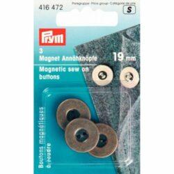 Prym magneetknopen 19.00mm oudmessing 3stuks