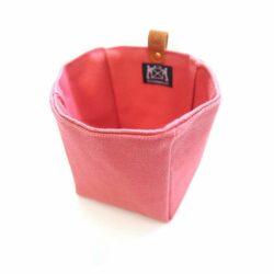Cohana Voorgevormde canvas tas roze