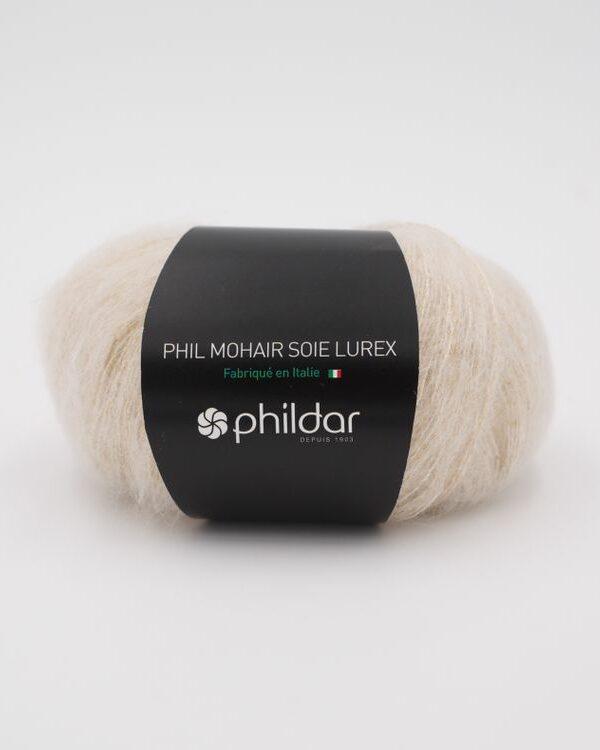 Phildar Mohair Lurex Ecru