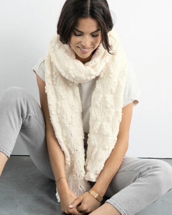 Breipakket sjaal Léana