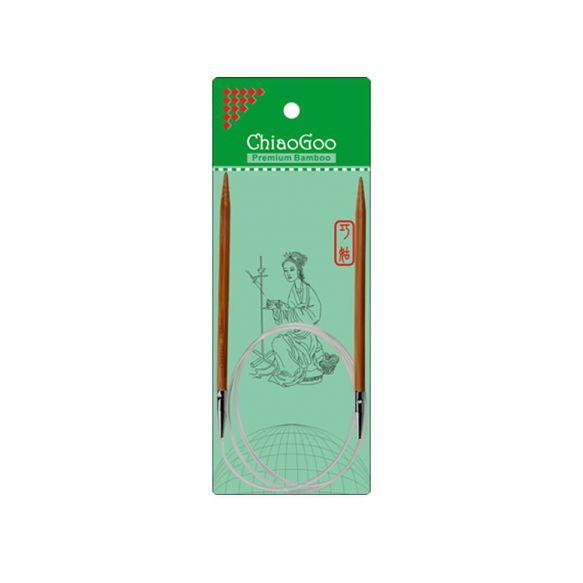 ChiaoGoo Bamboo rondbreinaalden 80 cm 6mm patina