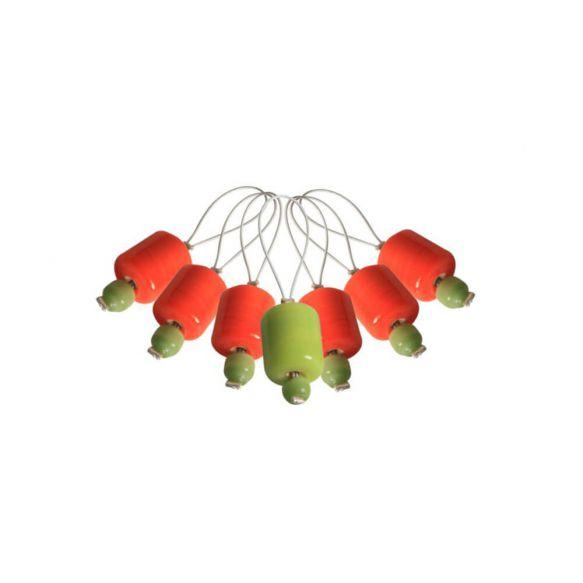 KnitPro Stekenmarkeerders Orange Lily set van 7