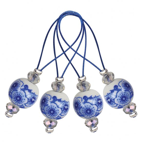 KnitPro Stekenmarkeerders Blooming Blue set van 12