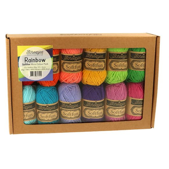 Scheepjes Softfun - colour pack - Rainbow