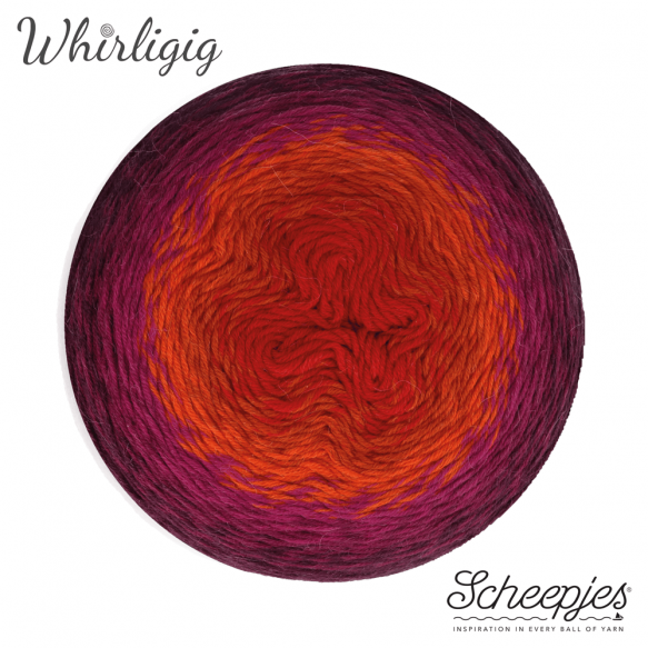 Scheepjes Whirligig - Plum to Red 209