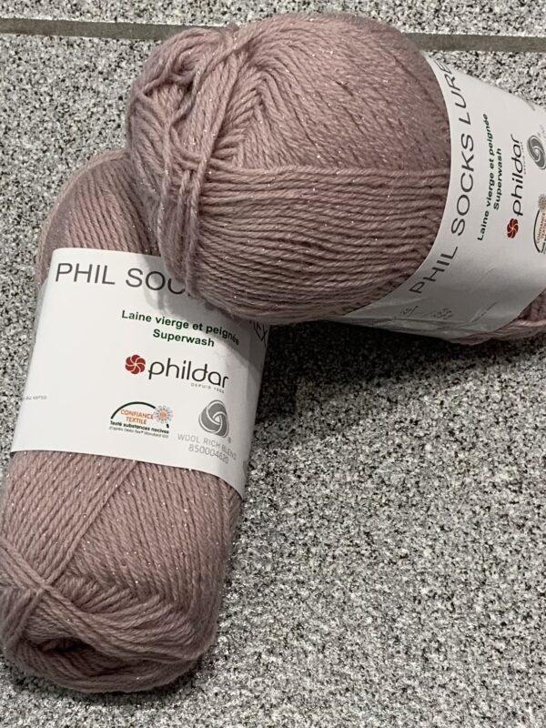 Phil Socks Lurex Rosee