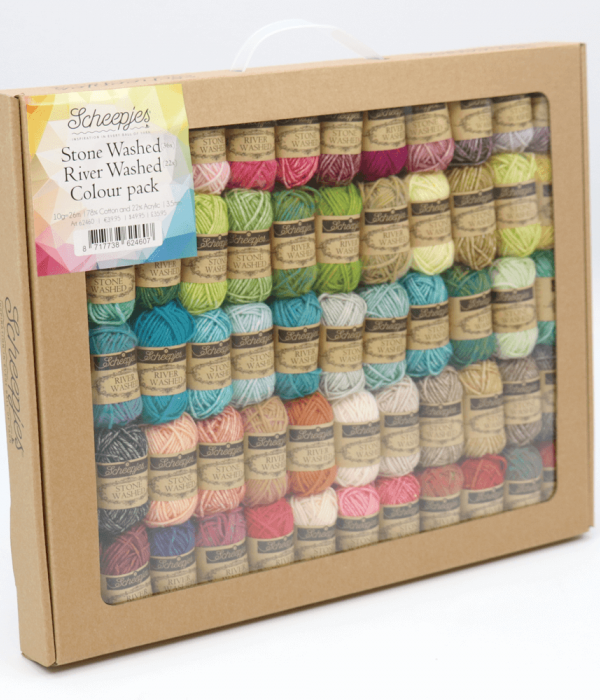Scheepjes Stone Washed-River Washed Colour Pack 58x10g