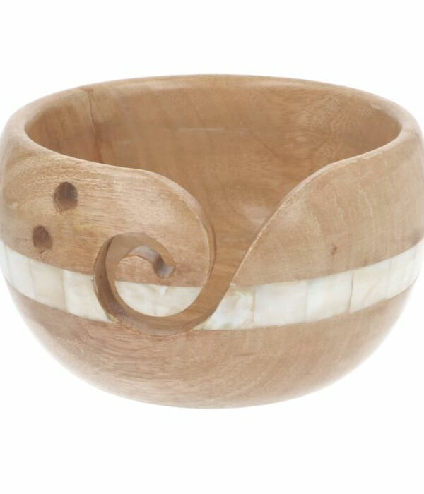 Scheepjes Yarn bowl mangohout en parelmoer 15 x 9 cm