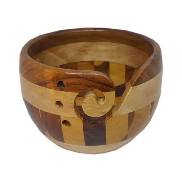 Scheepjes Yarn bowl multi hout 14 x 9cm