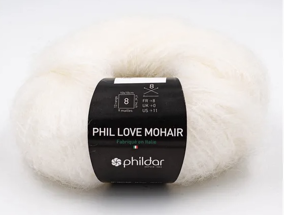 Phil Love Mohair Craie